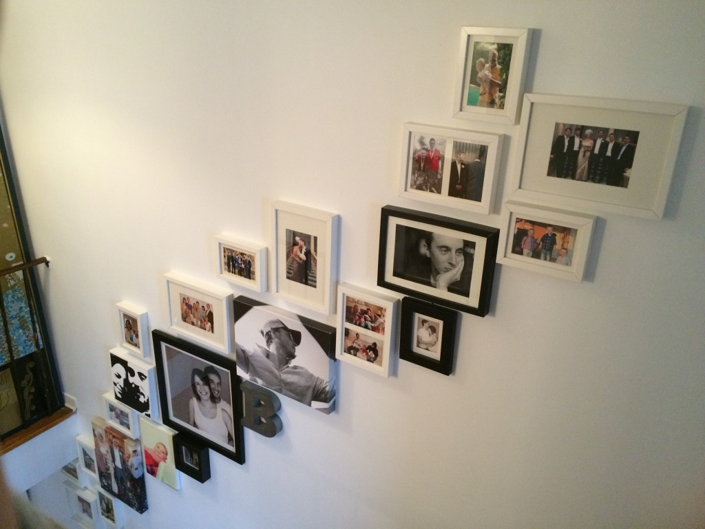 pictures hung up stairs