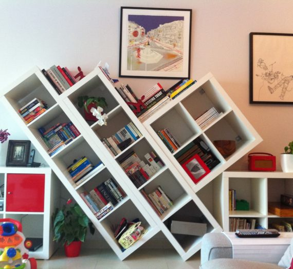 How to: Shelving unit with a twist… or tilt