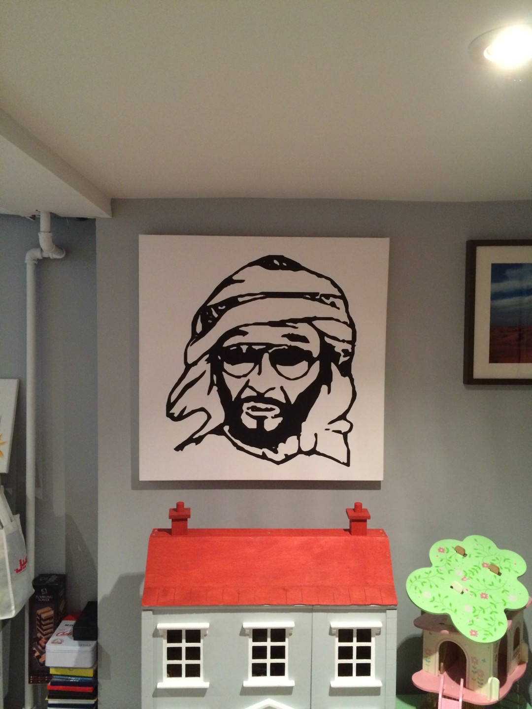 Sheikh Zayed canvas