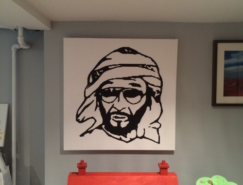 Sheikh Zayed canvas