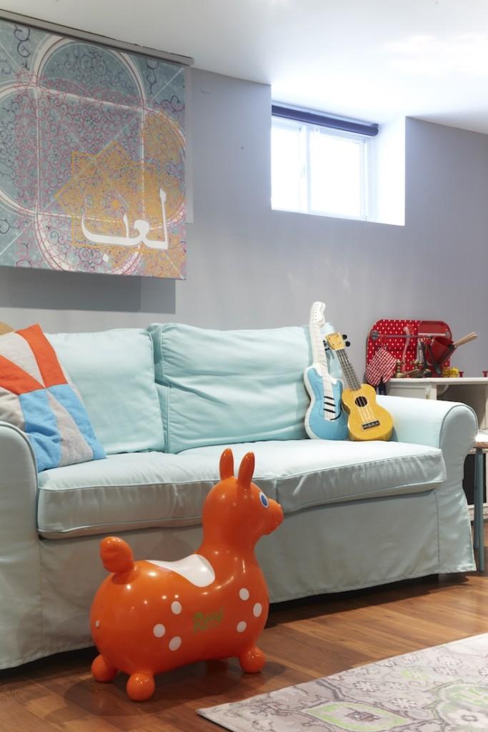 Ikea ektorp sofabed playroom
