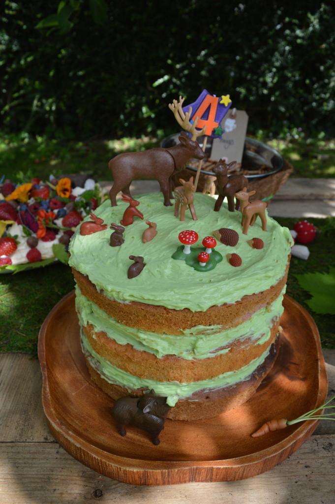 woodland party cake