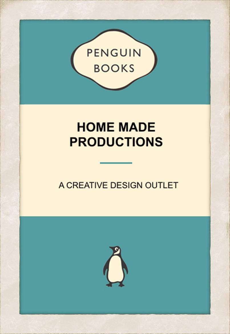 Penguin Book cover personalised