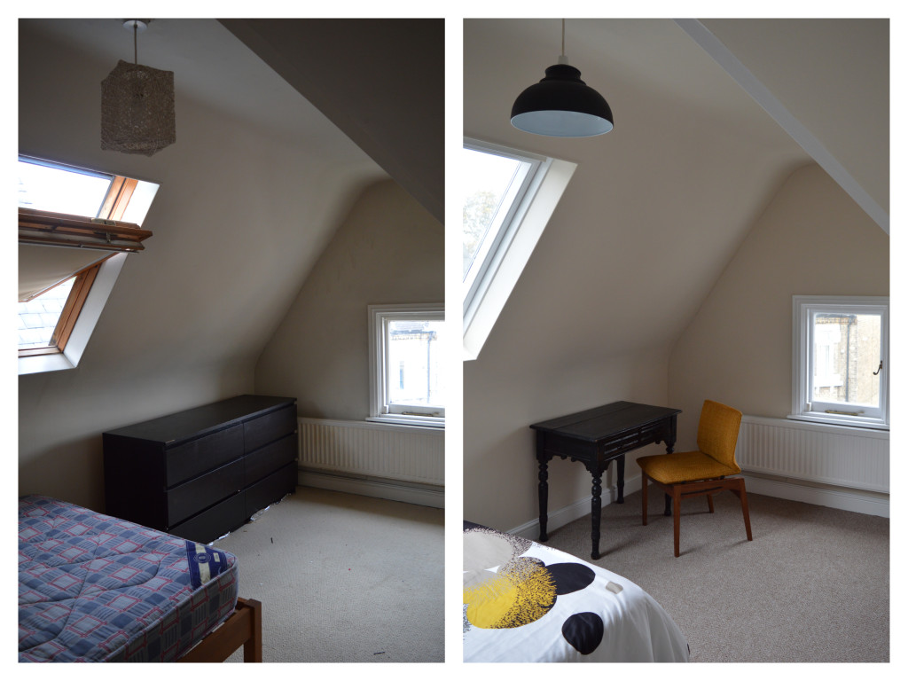before after Brixton london flat bedroom