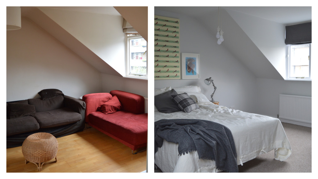before after brixton london master bedroom