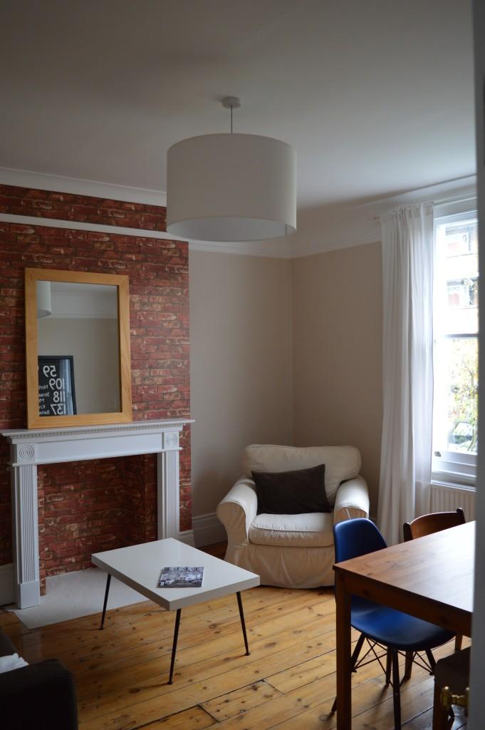 After Brixton London flat sitting room