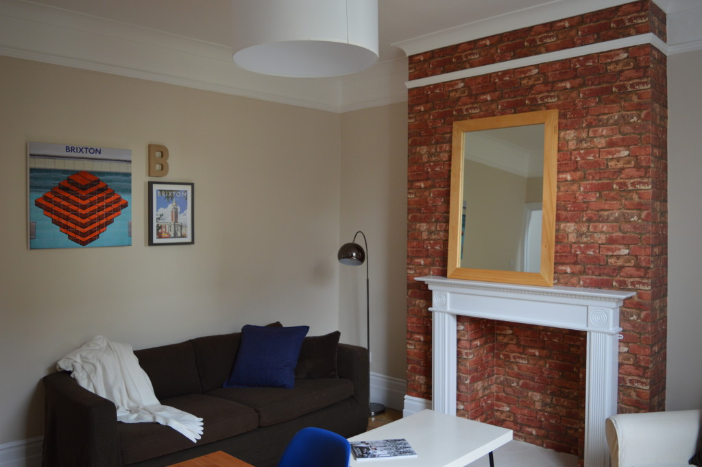 After Brixton London flat sitting room