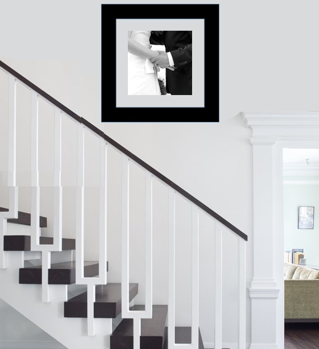 picture in stairway