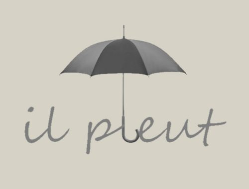 il pleut rain art french