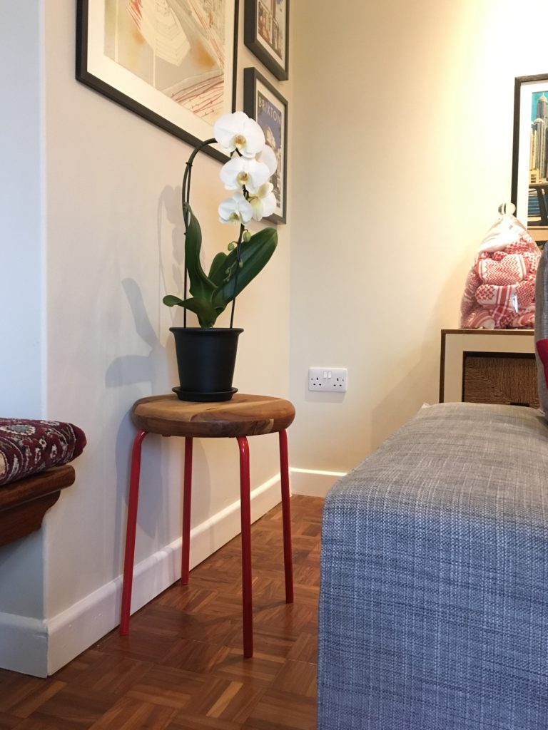 Ikea MARIUS stool SAKLIG bowl hack side table