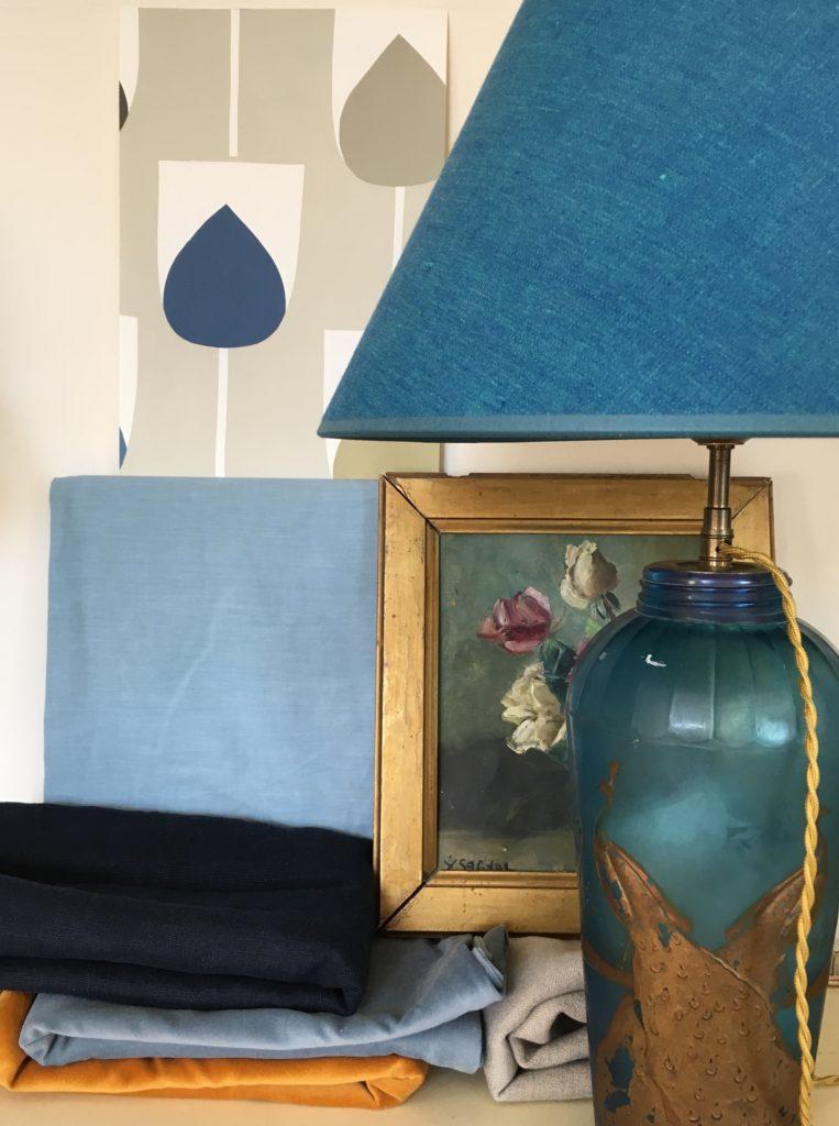 Styleboard blue room