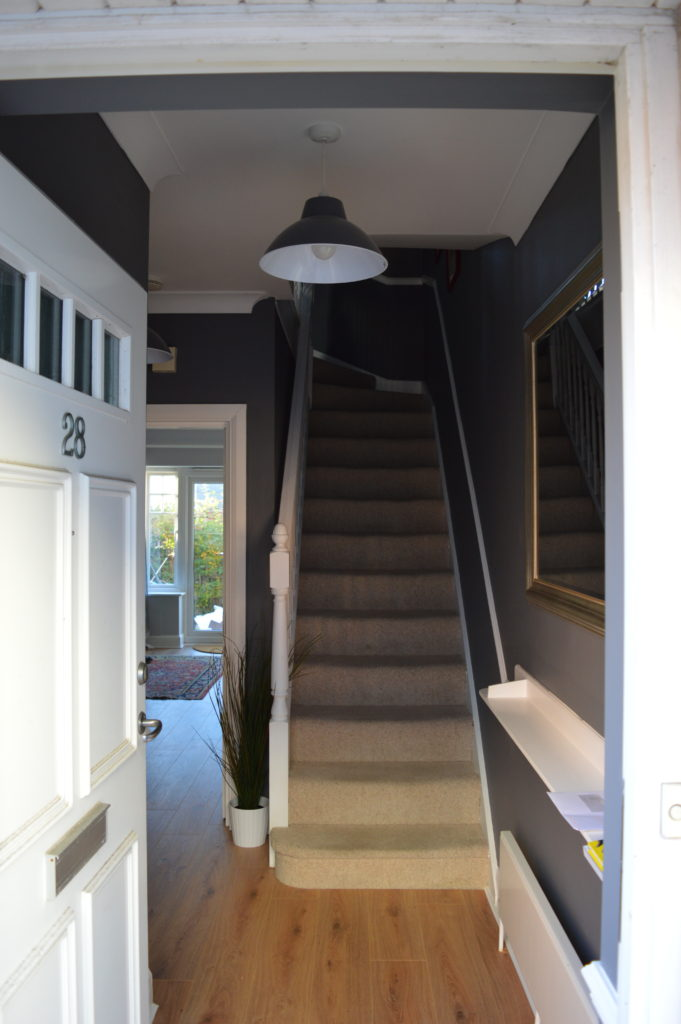 After entrance Dulux Night Jewels 3 Dark grey