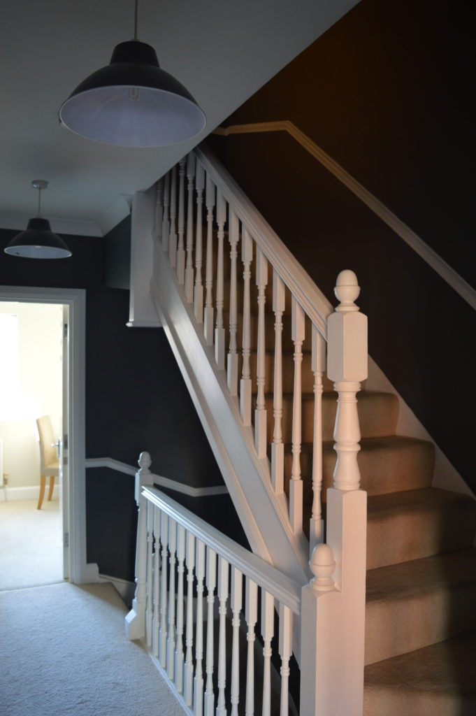 After stairs Dulux Night Jewels 3 grey paint