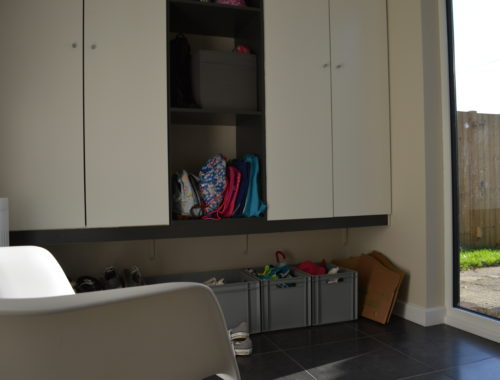 Ikea BOSTRAK built in porch anthracite grey