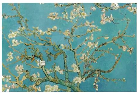 Ikea BJÖRKSTA almond blossom canvas