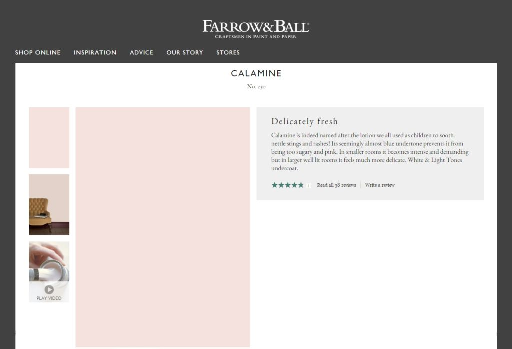 Farrow Ball Calamine