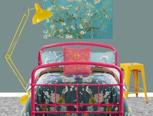 Farrow Ball Oval Room blue China girl bedroom styleboard
