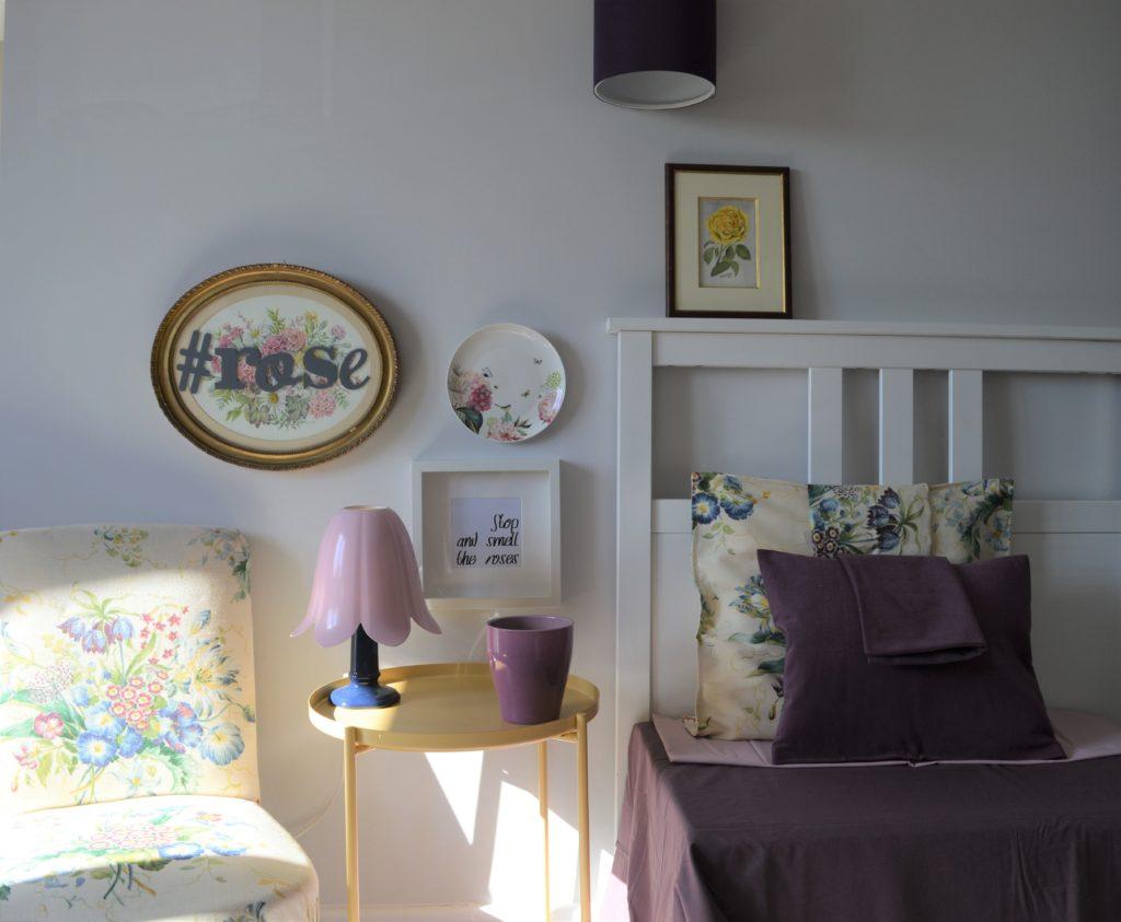 Rose themed girl bedroom