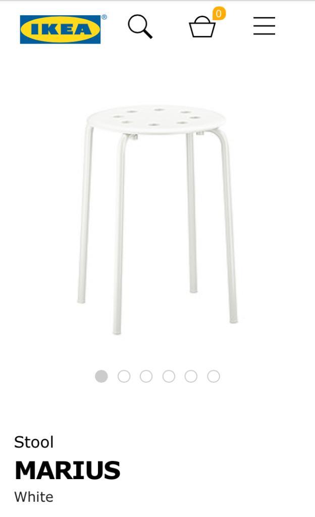 IKEA MARIUS stool white