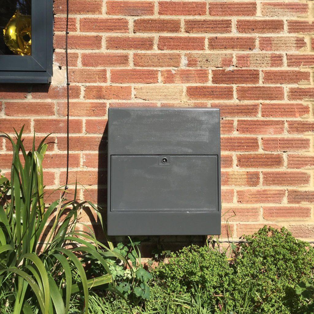 Painted gas meter box