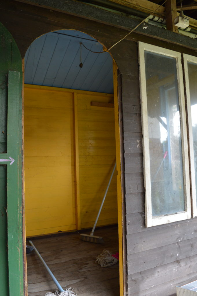 Garden shed before