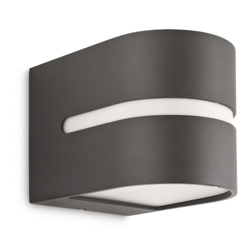 Philips Hazel outdoor curved flush wall light