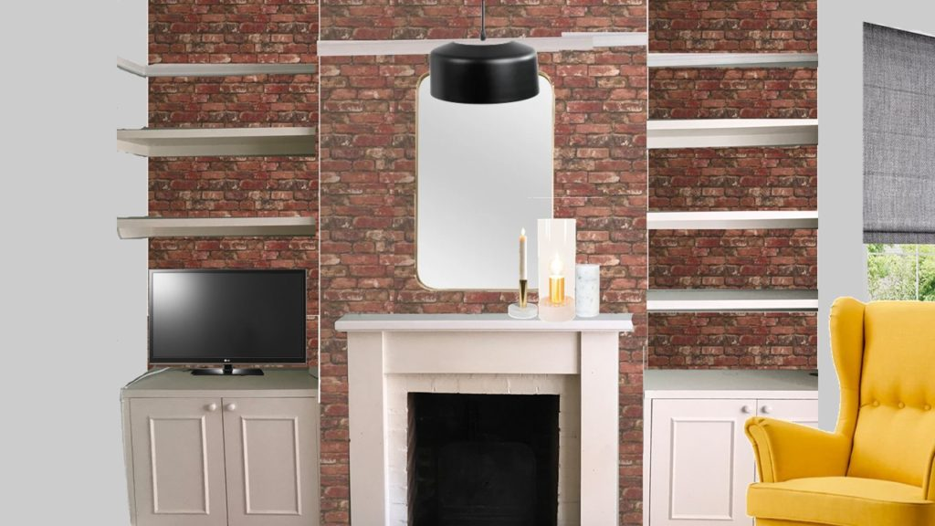Styleboard sitting room fireplace