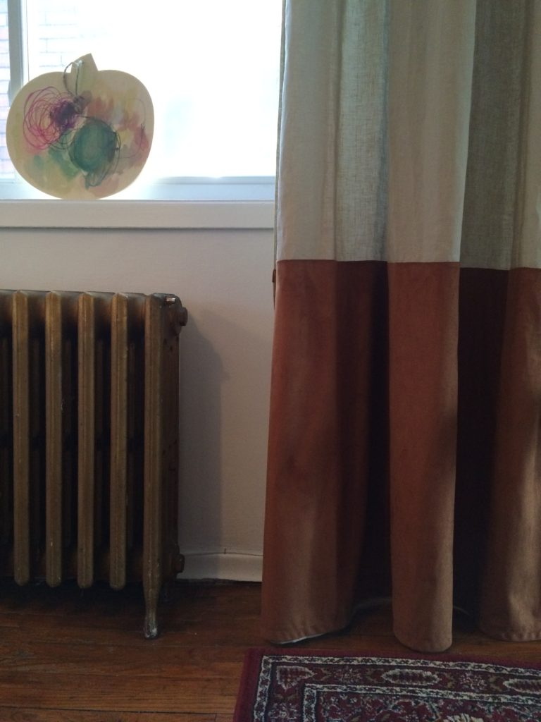 Ikeahack AINA Linen curtains sitting room