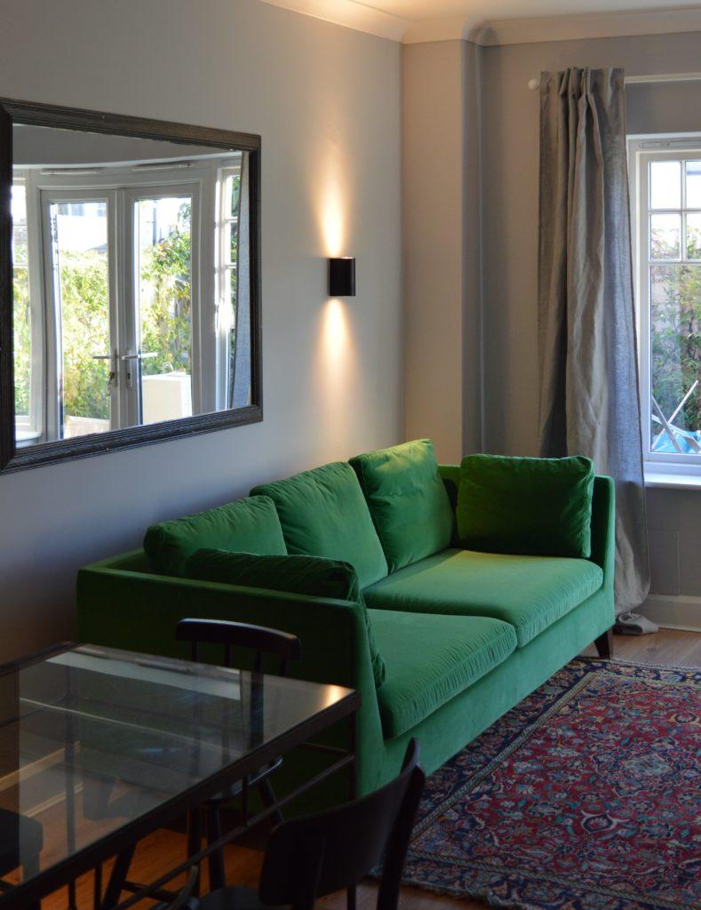 Ikea AINA Linen curtains sitting room