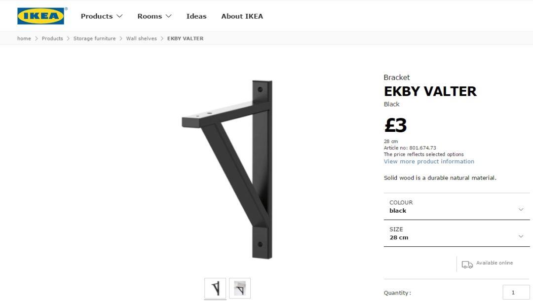 ekby valter 3 ways home made productions. Black Bedroom Furniture Sets. Home Design Ideas