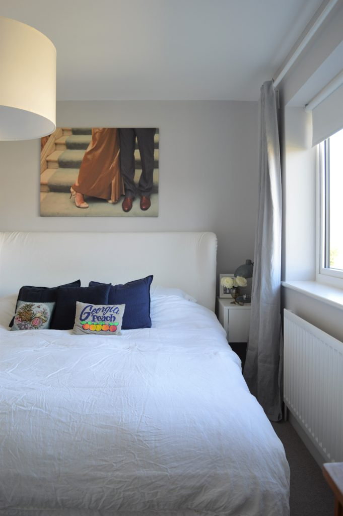 Ikea AINA Linen curtains bedroom