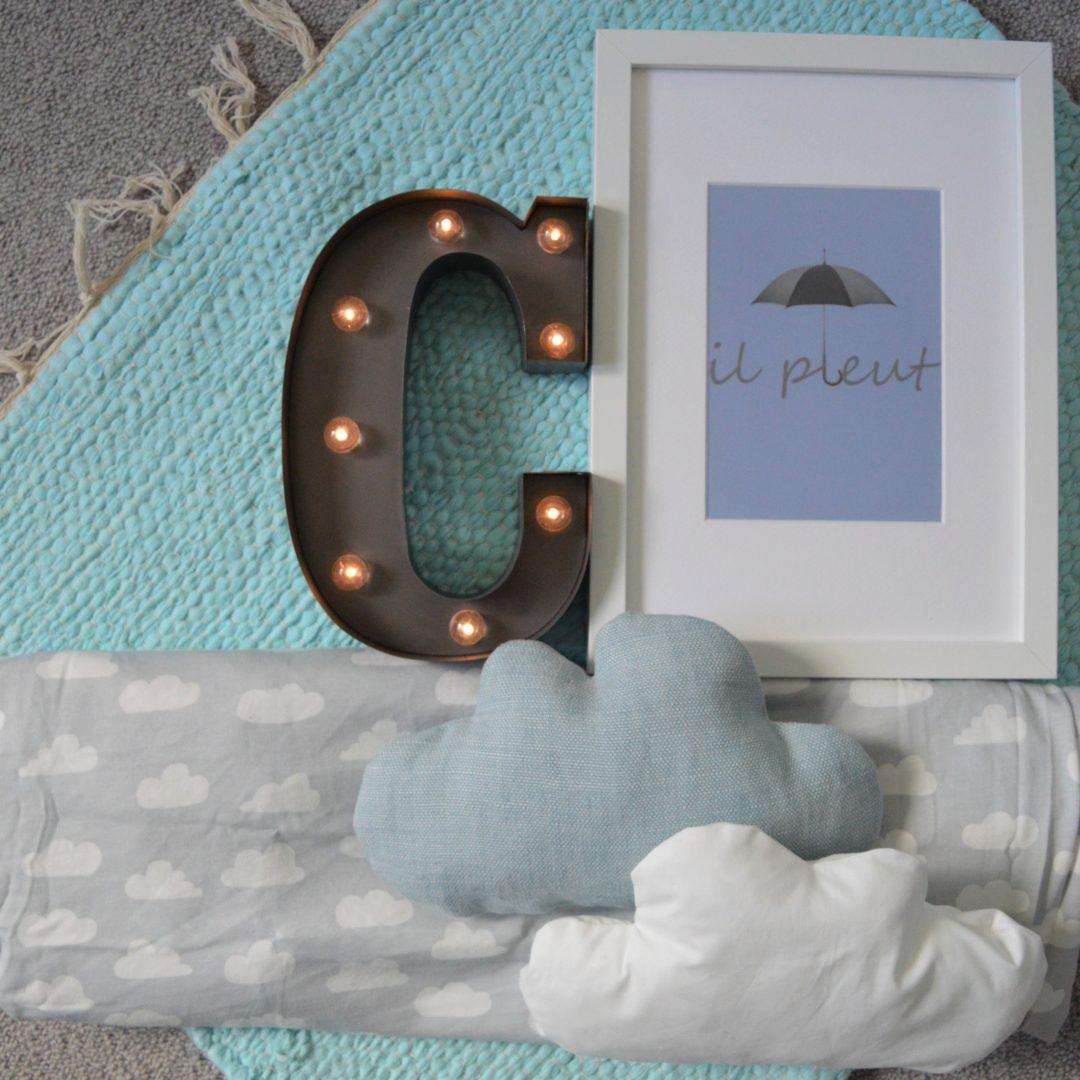 C is for cloud nursery Palette