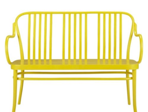Sonny Yellow Bench Crate and Barrel