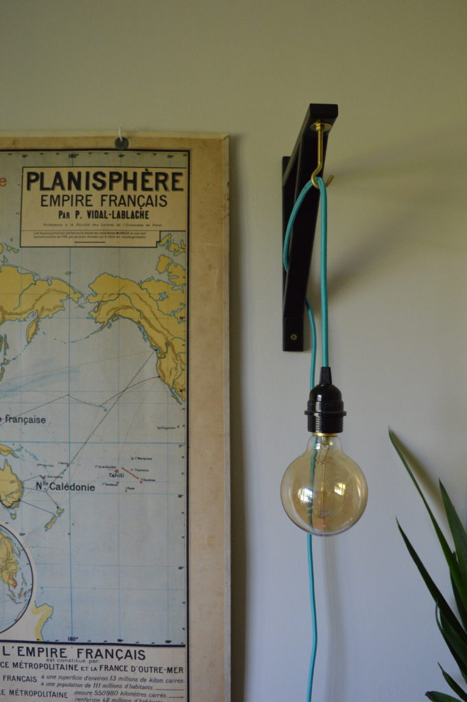 Antique French map Ikea ekby valter hack