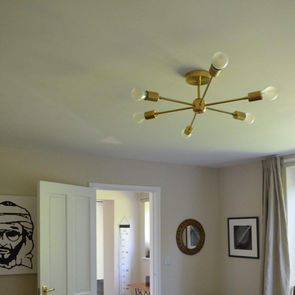 Brass Sputnik chandelier