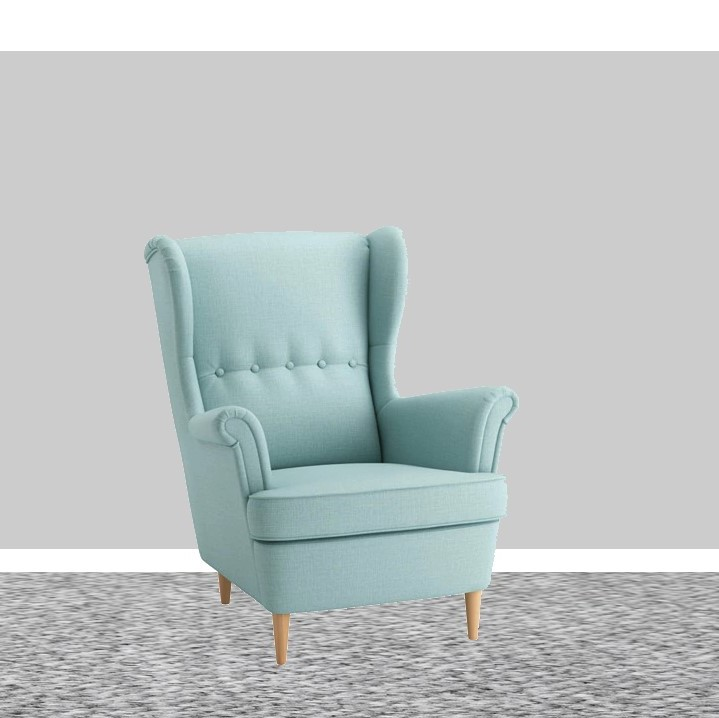 IKEA Strandmon Skiftebo light turquoise