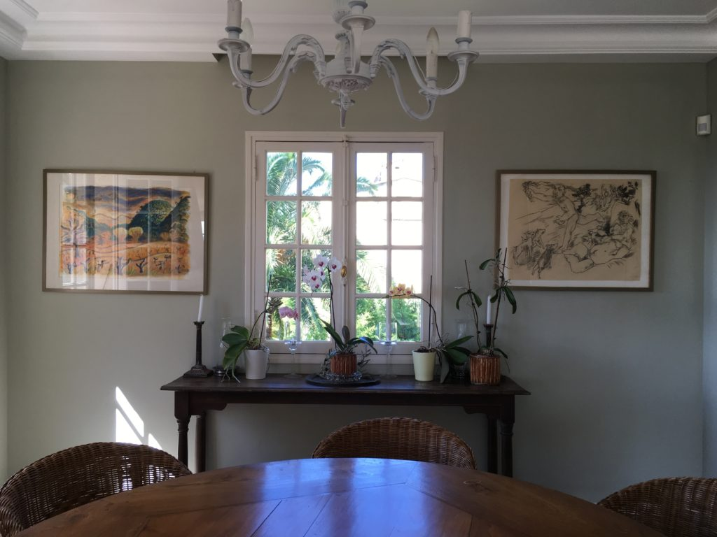 French house Dinning room Farrow & Ball Mizzle