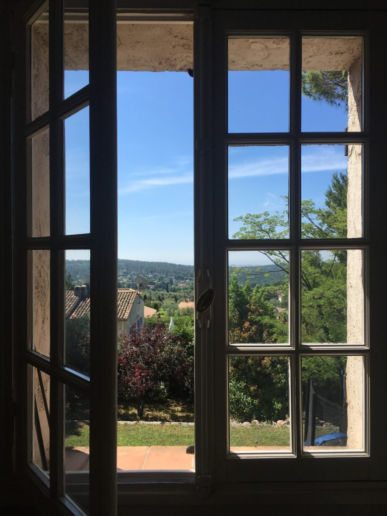 French house Dinning room window