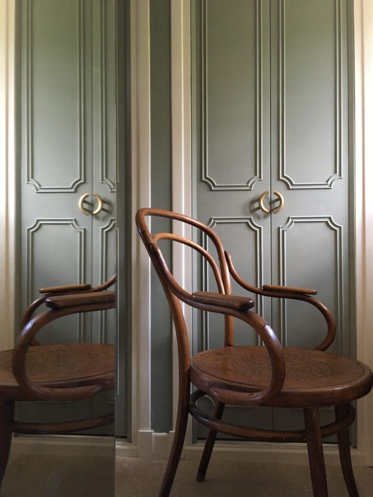 French house Master walkthrough office Farrow & Ball Pigeon