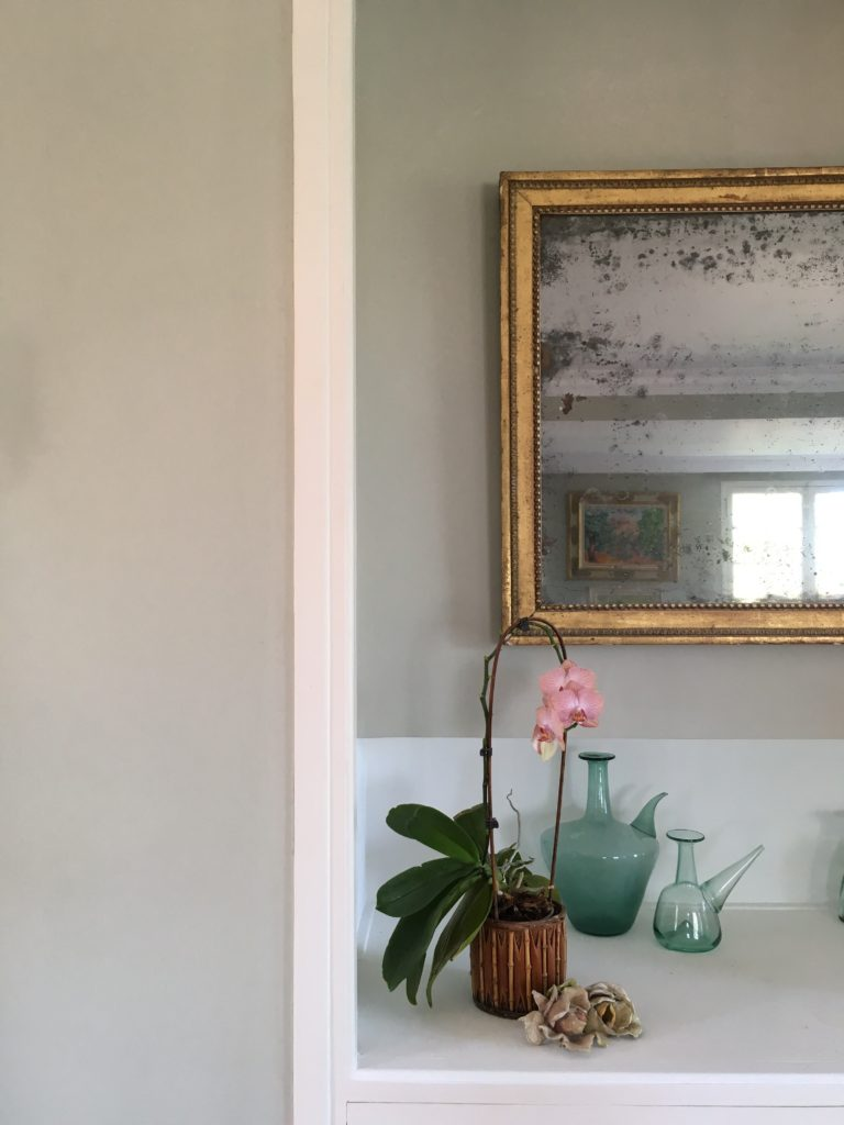 French house Sitting room Farrow & Ball Mizzle