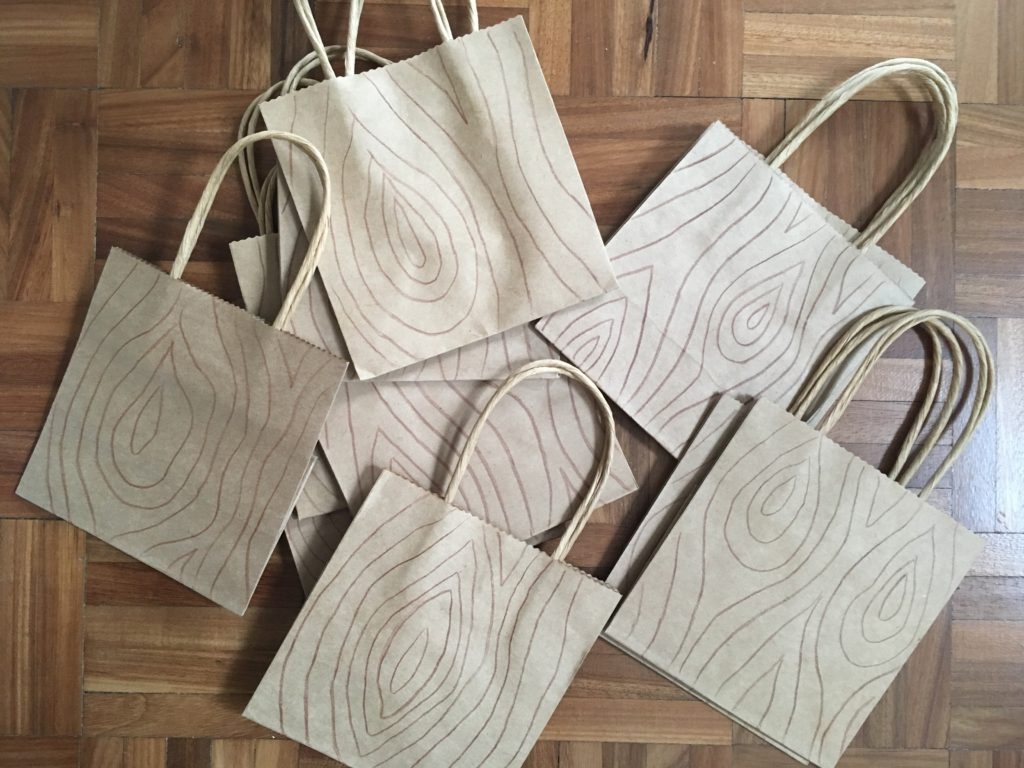 Woodland Birthday party bags