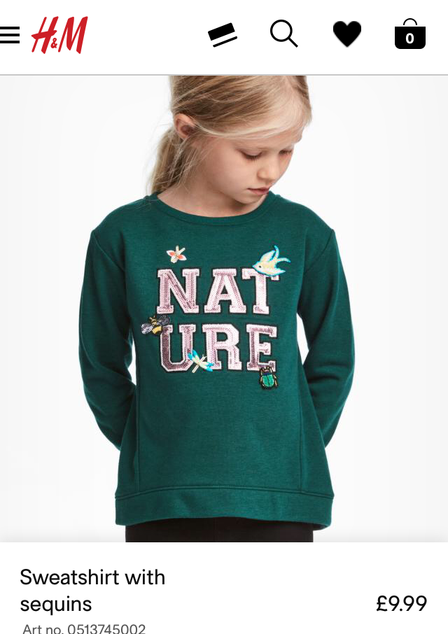 H&M Kids Sweatshirt with sequins