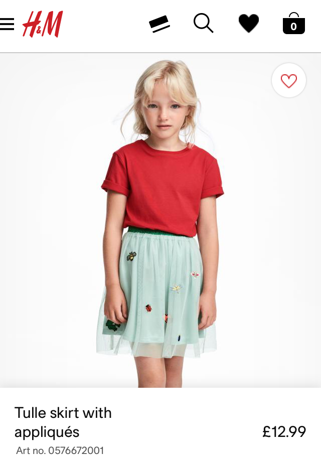 H&M Kids Tulle skirt with appliqués