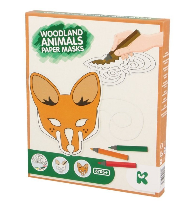 Keycraft Woodland Animals Paper Mask Craft Kit