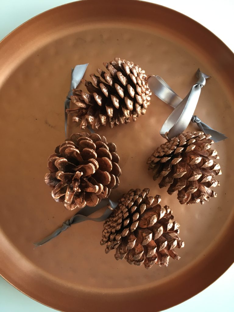 Copper pinecone