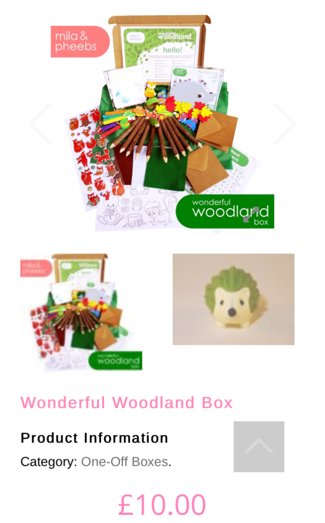 mila and pheebs wonderful woodland box