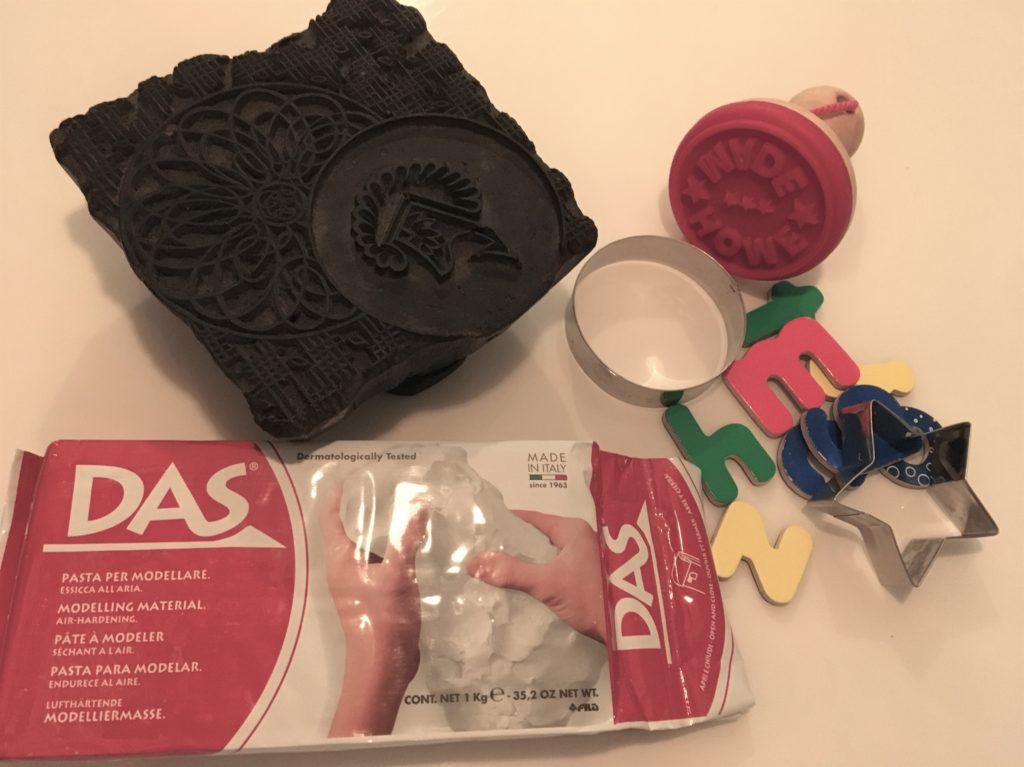 DAS White Air Drying Modelling Clay Christmas ornaments