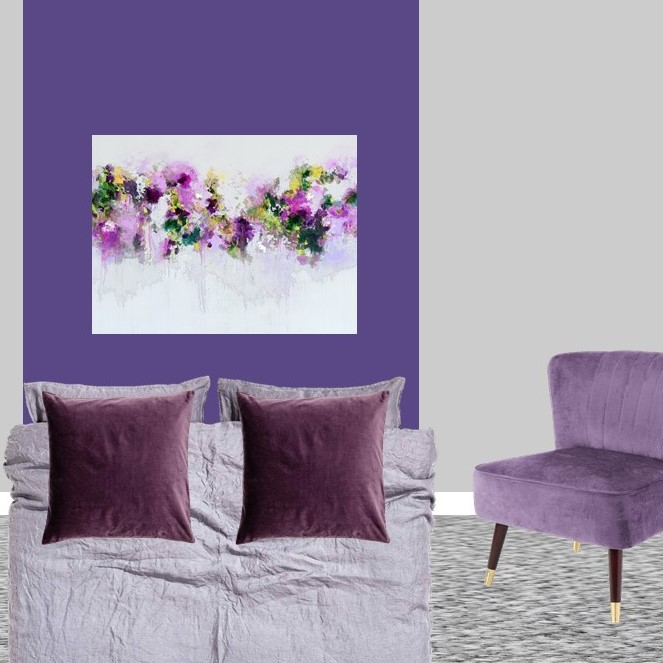 Pantone Ultra Violet bedroom