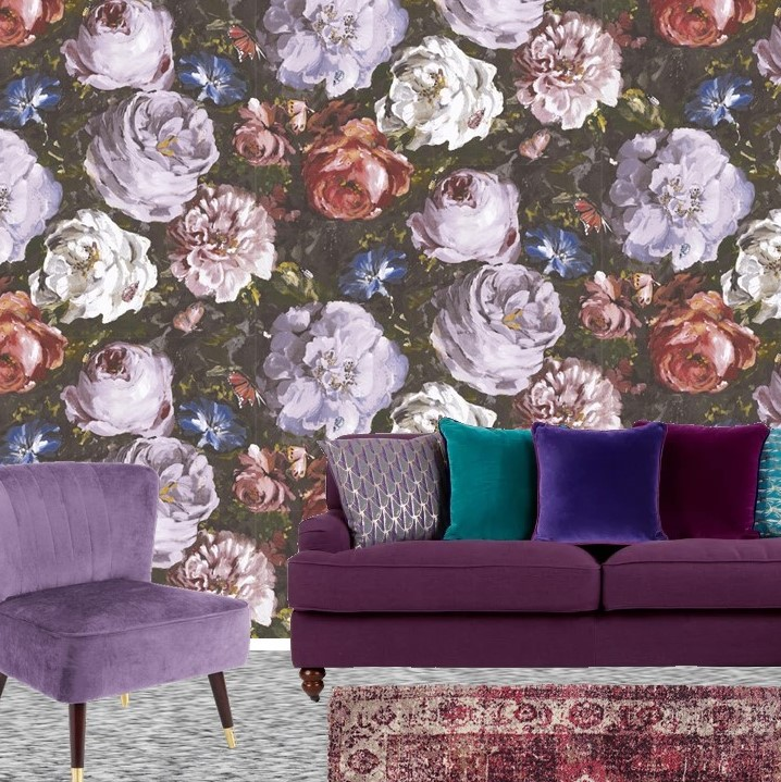 Pantone Ultra Violet Sitting room lounge dark
