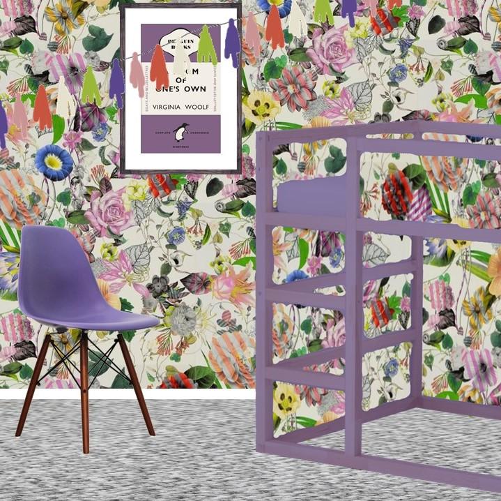 Pantone Ultra Violet Kids toddler tween bedroom